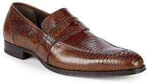 Mezlan Men's Textured Leather Penny Loafers
