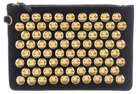 Jerome Dreyfuss Studded Suede Clutch