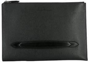 Salvatore Ferragamo Black Leather Pochette