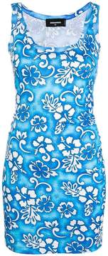 DSQUARED2 floral print mini dress