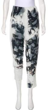 Enza Costa Printed Mid-Rise Pants