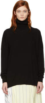 Enfold Black Rib Turtleneck
