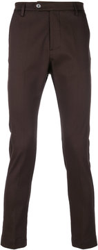 Entre Amis cropped slim fit trousers