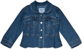 Mayoral Blue Denim Jacket with Frill Pocket Detail