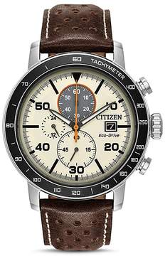 Citizen Men's Leather Strap Watch, 44mm