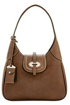 Dooney & Bourke Florentine Toscana Small Hobo Shoulder Bag. - ELEPHANT - STYLE