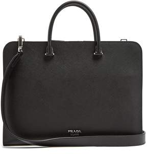 Prada Slim saffiano-leather briefcase