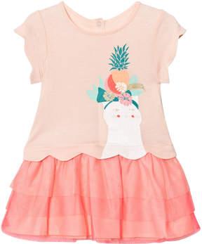 Billieblush Pale Pink Glitter Cat Print Tutu Dress