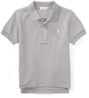 Ralph Lauren | Cotton Mesh Polo Shirt | 18-24 months | Gray