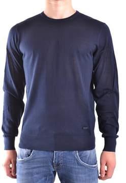 Armani Collezioni Men's Blue Silk Sweater.