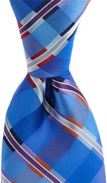 Murano Member Plaid Traditional Silk Tie