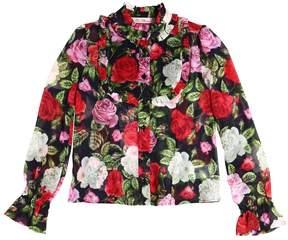 Miss Blumarine Floral Printed Georgette Shirt