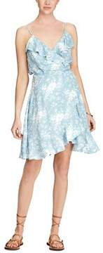 Denim & Supply Ralph Lauren Printed Flounce Wrap Dress.