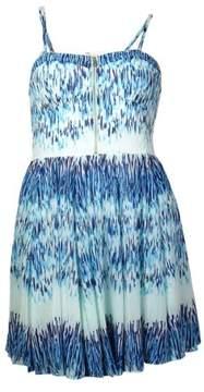 GUESS Women's 'Tanya' Sweetheart Printed Chiffon Dress