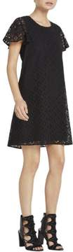BCBGeneration Womens Lace Flutter Sleeves Casual Dress