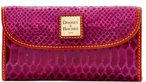 Dooney & Bourke Snake Continental Clutch Wallet - FUCHSIA - STYLE
