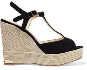 Paloma Barceló Sandrine Suede Wedge Sandals