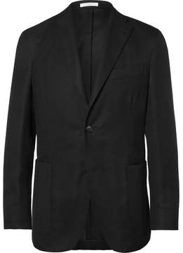 Boglioli Black Slim-Fit Unstructured Wool-Hopsack Blazer