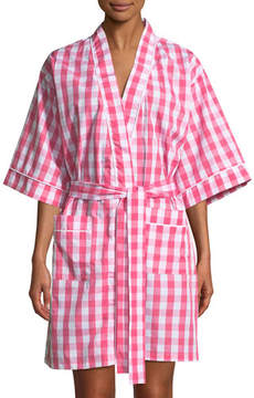 BedHead Gingham Cotton Kimono Robe