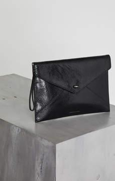 BCBGMAXAZRIA Kassandra Metallic Leather Clutch