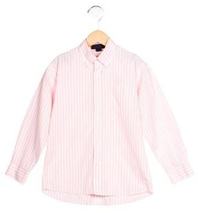 Oscar de la Renta Boys' Striped Button-Up Shirt