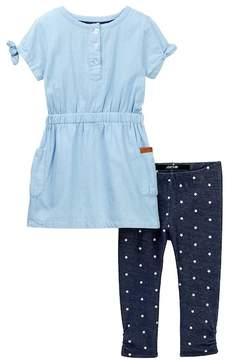 Joe's Jeans Dress & Leggings Set (Toddler Girls)