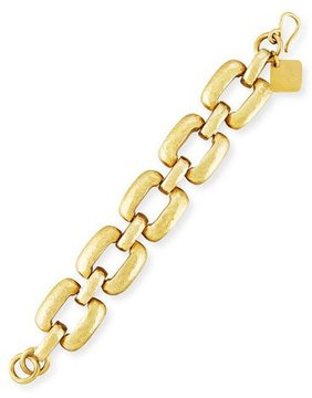 Ashley Pittman Bila Hammered Bronze Square-Link Bracelet