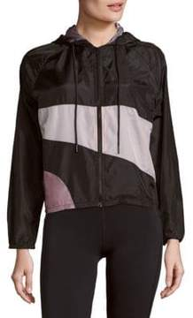 Cynthia Rowley Colorblock Zip-Up Hoodie