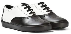 Dolce & Gabbana Black and White Brogue Trainers