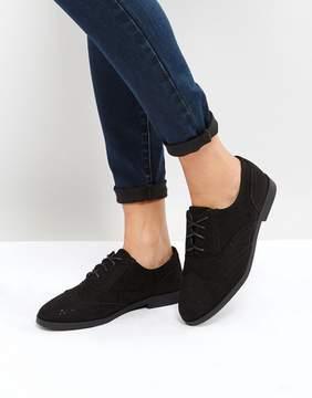 New Look Suedette Brogue Flat Shoe