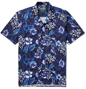 Gitman Brothers Camp-Collar Floral-Print Cotton Shirt