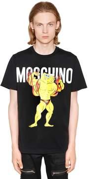 Moschino Spongebob Logo Printed Jersey T-Shirt