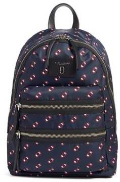 Marc Jacobs Logo Scream Biker Backpack - Blue - BLUE - STYLE