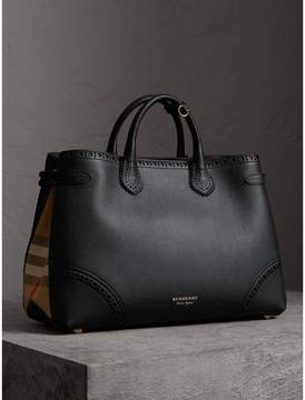 Burberry The Large Banner in Brogue Detail Leather