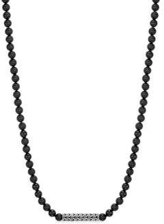 John Hardy Silver Classic Bead Necklace