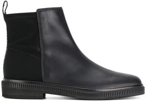 Sergio Rossi panelled ankle boots