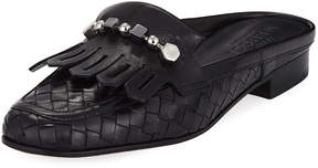 Sesto Meucci Murry Woven Flat Slide Mule, Black