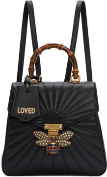 Gucci Black Queen Margaret Quilted Backpack - BLACK - STYLE