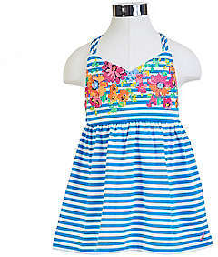 Nautica Little Girls' Double Strap Floral & Striped Tank (2T-7)