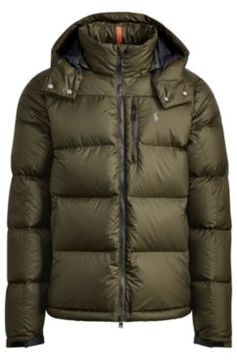 Ralph Lauren Quilted Ripstop Down Jacket Dark Loden S