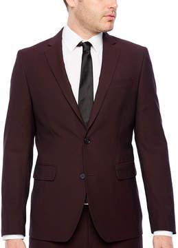 Jf J.Ferrar Merlot Pulse Slim Fit Stretch Suit Jacket