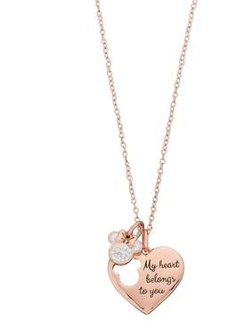 Disney Disney's Minnie Mouse My Heart Belongs To You Charm Necklace