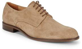 Saks Fifth Avenue Made in Italy Men's Suede Plain-Toe Blucher Shoes