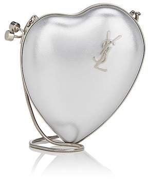 Saint Laurent Women's Love Box Small Clutch - SILVER - STYLE