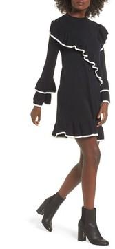 BP Women's Ruffle Knit Sweater Dress