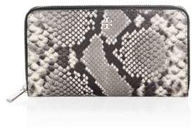 Tory Burch Embossed Leather Continental Wallet - NATURAL - STYLE