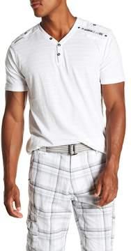 ProjekRaw Projek Raw V-Neck Short Sleeve Henley