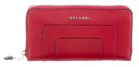 Bvlgari Leather Logo Wallet