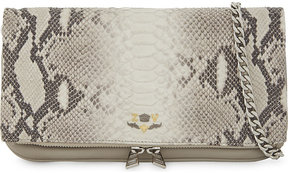 Zadig & Voltaire Rock Savage snake-embossed clutch bag