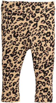 H&M Leopard-print Leggings - Beige